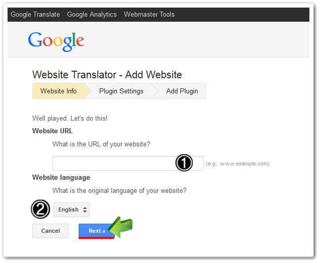 how to add google translator in my website